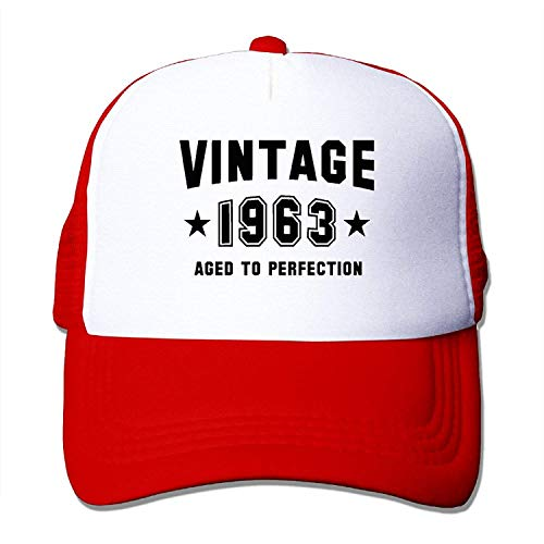 Preisvergleich Produktbild tianjianzulinyouxiangongsi Men's Adjustable Velcro Baseball Cap,  Vintage 1963 - Aged to Perfection