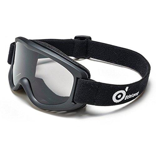 Skibrille, ODOLAND Skibrille für Kinder unter 6Jahre - UV400 Schutz und Anti-Beschlag - Grau Sphärische Linse Bequem für Sonnige Tage Perfekt für Skating Skifahren Schneemobile - Schwarz