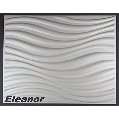 5 m2, Paneles 3D Placas Panel mural 3D Placa de pared Pared Techo, 62x80cm ELEANOR
