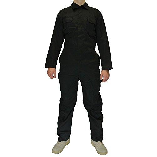 Preisvergleich Produktbild Herren Blaumann Mechaniker Overall Blaumann arbeitskleidung - Schwarz, L
