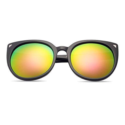 Sonnenbrillen Elegante Persönlichkeits-sonnenbrille Dame Mode Polarisierte Sonnenbrille 100% Uv-schutz Black Frame Powder Film (Sammelbeutel)