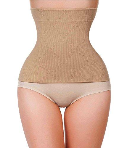 Gotoly Frauen Underbust Sport Gürtel Taille Trainer Cincher Shapewear (X-Small, Beige) (Strumpfhosen Plus Mutterschaft)