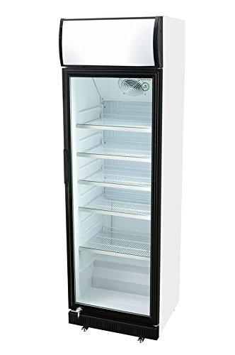 Glastürkühlschrank mit Werbe Display - Versandkostenfrei - GCDC400