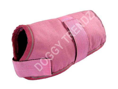 Waterproof Dog Coats Rain Warm Jacket Black Navy Pink Maroon Green Purple All Sizes 10-Inches to 30-Inches (10-Inch… 1