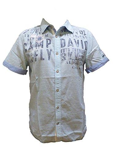 Camp David Hemd Sky Sailor Old Aqua Stripe CCB-1804-5418 (XL) (Aqua-hemd)