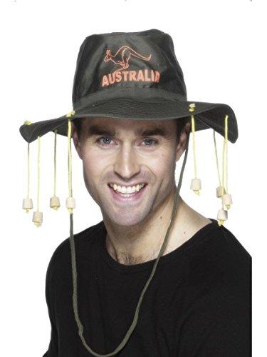 Smiffys Kostüm Zubehör Australien Hut mit Korken Karneval Fasching Party (Australien Kostüm Zubehör)