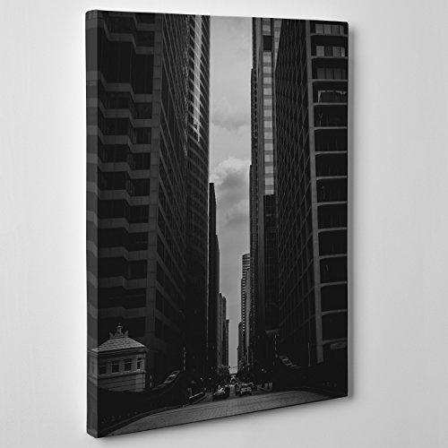 quadro-su-tela-canvas-intelaiato-pronto-da-appendere-ny-new-york-stile-vintage-bianco-e-nero-america