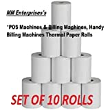 MM Enterprises 58MMx25Mtr(2Inch) Thermal Paper roll for billing machine (Set of 10 Rolls)