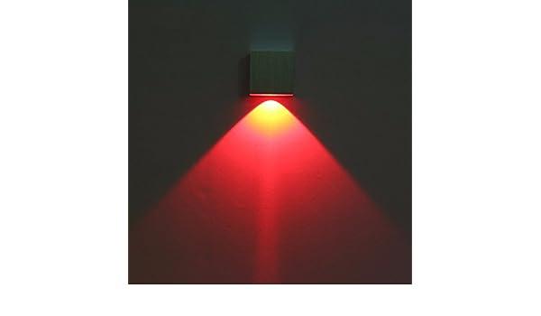 Zhzhco luce spot led applique lampada creativa luce rossa amazon