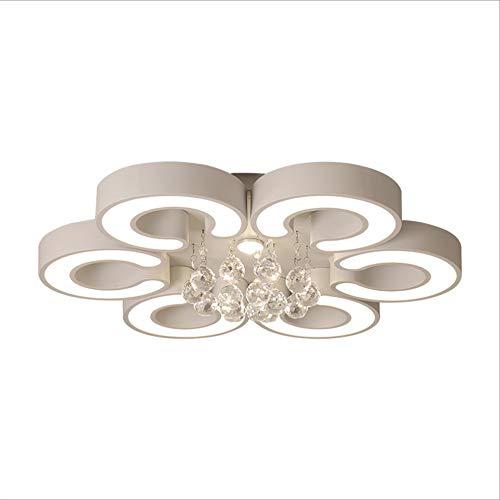 Towero Moderne Kristall-LED-Deckenleuchte Atmosphäre Wohnzimmer Schlafzimmer romantische Schlafzimmer Esszimmer Lampe -