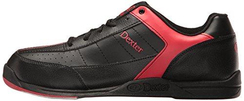 Dexter, Scarpe da bowling Uomo Ricky III Nero (schwarz - schwarz/red)