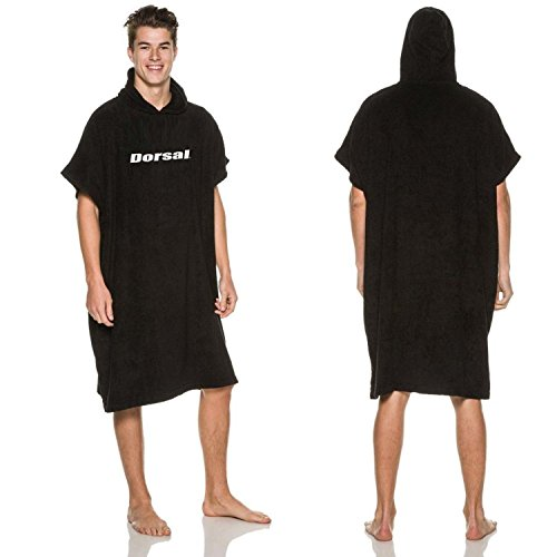 Dorsal Surf Changing Poncho Robe Towel - Black
