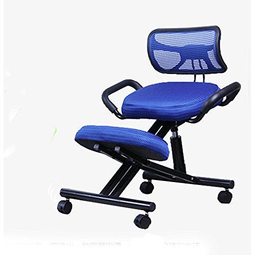 Wellness-stuhl Ergonomischer (Beste Hausmassage Kniestuhl mit Rückenlehne - Ergonomischer Stuhl zur Linderung von Rückenschmerzen und zur Verbesserung der Körperhaltung bequeme Verwendung ( Farbe : Blau ))