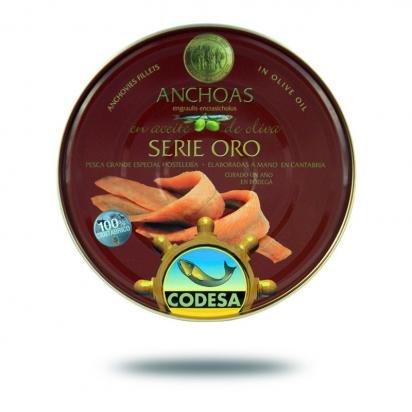 Filetti di Acciughe Mar Cantabrico Serie Oro CODESA 550 g - CODESA ANCHOAS SERIE ORO 550 g