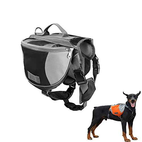 Hund Rucksack Pet Wear Tuch Pack für Shopping Reisen Walking Camping Wandern Training Sattel Tasche Harness Quick Release Carrier Groß / Schwarz Farbe (Zoll 18 Rucksack Rädern)
