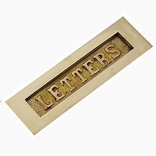 Edwardian Brass 'Letters' Letterbox