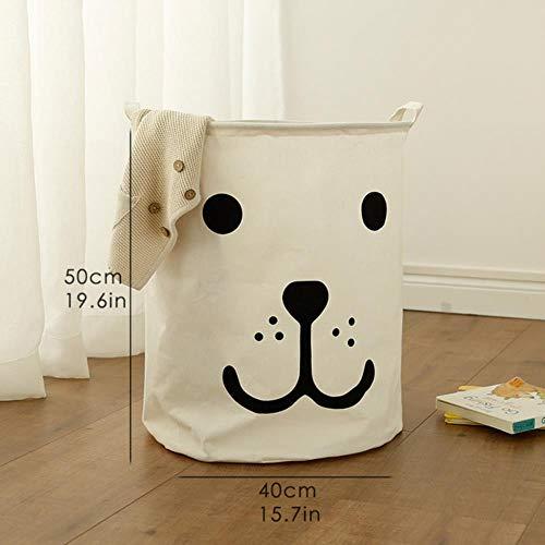 LINCH Wäschekorb Spielzeug Aufbewahrungsbox Picknickkorb Box Baumwolle Waschen Wäschekorb Baby Organisator Mülleimer Bring Mich zum Lächeln la la la Liebe Dich, lächle Hund-groß -