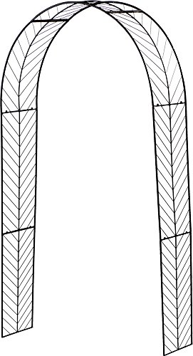 Rosenbogen 140X42cm Varus Metall