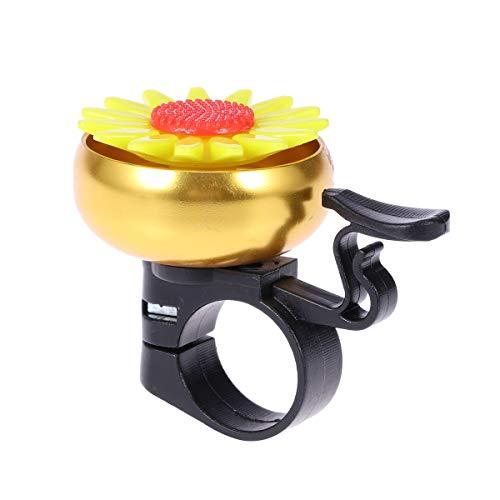 LIOOBO Sonnenblumenförmige Fahrradklingel Kinder Kinder Fahrradklingel Fahrradklingel Lenker Ring Klingel Ringer Horn (Golden) Golden Ringers