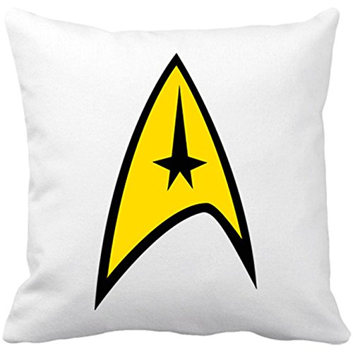 Kissen mit Füllung Offizielle Star Trek Logo Kapitän Flugkapitän 35 x 35 cm weiß (Star Trek-kissen)