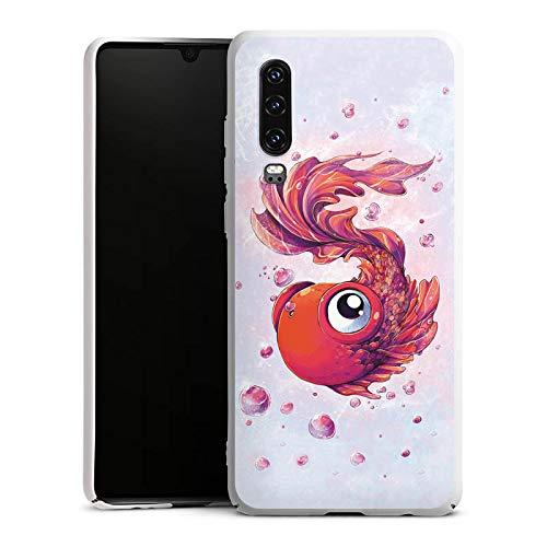 DeinDesign Hülle kompatibel mit Huawei P30 Handyhülle Case Fisch Goldfisch Comic -