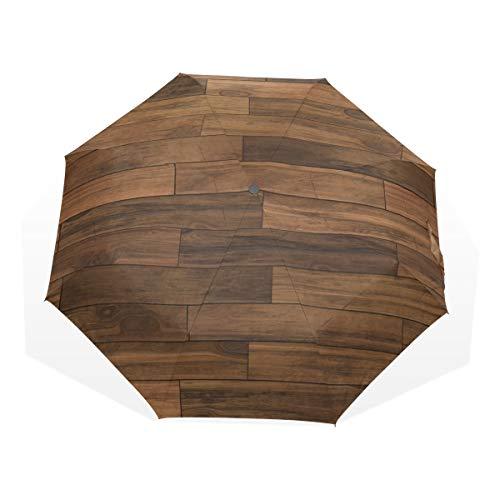 Reiseregenschirm Old Grunge Dark Textured Holz Anti Uv Compact 3 Fold Art Lightweight Faltbare Regenschirme (Außendruck) Winddicht Regen Sonnenschutzschirme Für Frauen Mädchen Kinder -