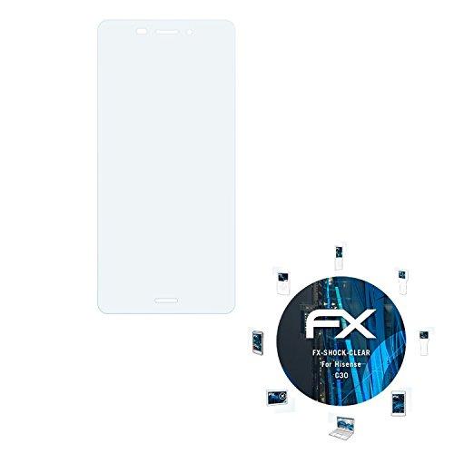 atFolix Schutzfolie kompatibel mit Hisense C30 Panzerfolie, ultraklare & stoßdämpfende FX Folie (3X)