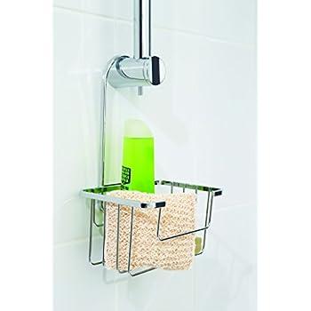 2 tier hanging bath shower caddy with hook plastic basket. Black Bedroom Furniture Sets. Home Design Ideas