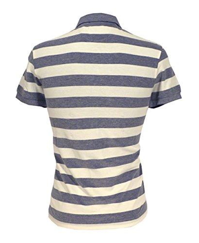 GANT Herren Poloshirt L. BARSTRIPE OXFORD PIQUE RUGGER, Gestreift Blue