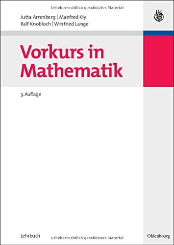 Vorkurs in Mathematik (Managementwissen für Studium und Praxis)