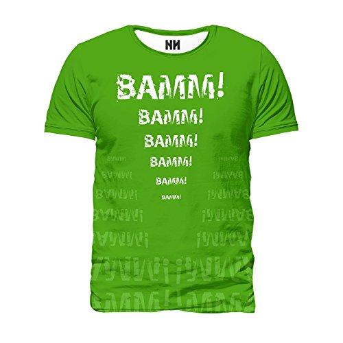 BAAM! - T-Shirt Man Uomo - Nerd Style Green Fun Comics Fumetto Verde