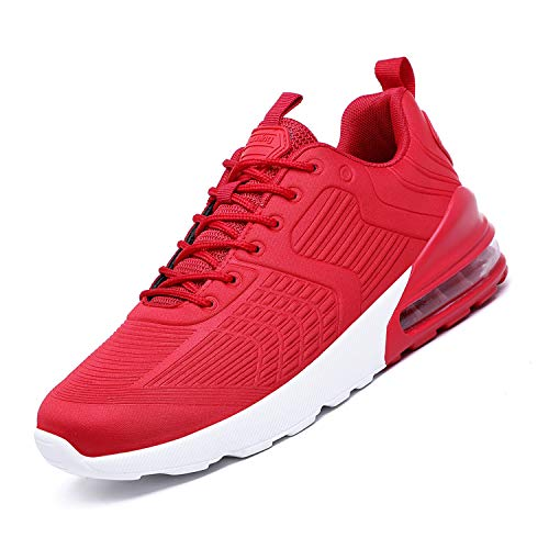 Mabove Laufschuhe Herren Damen Turnschuhe Sportschuhe Straßenlaufschuhe mit Luftkissen Sneaker Atmungsaktiv Trainer für Running Fitness Gym Outdoor(Rot/Ty23,42 EU)