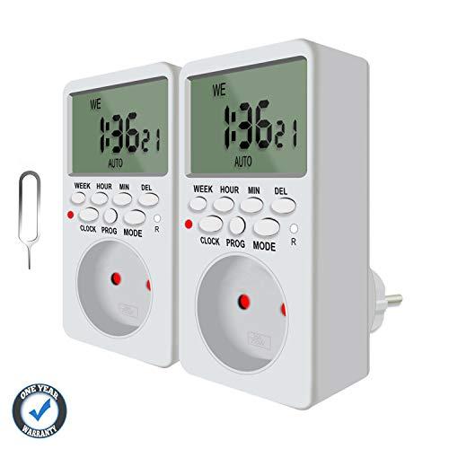 Presa Temporizzata, Presa Programmabile Digitale, Spina Timer elettronico Digitale Programmabile Random Countdown QooTec EUS006