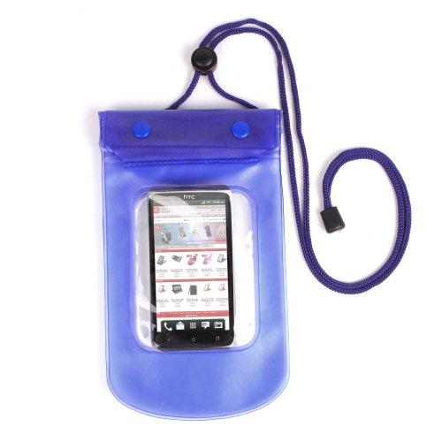 Duragadget® wasserfester Umhängebeutel für HTC One X (Blau) - perfekt für den Sommer! Blau