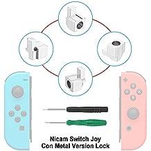 Nicam 4x Cerraduras metálicas izquierda / derecha para NS Nintendo Switch Controlador Joy-Con Reparar