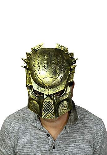 B-Creative Film Alien vs Predator Krieger Cosplay Kostüm Full Face Maske Erwachseneood Creepy Spooky Latex (Zombie-Fleisch)