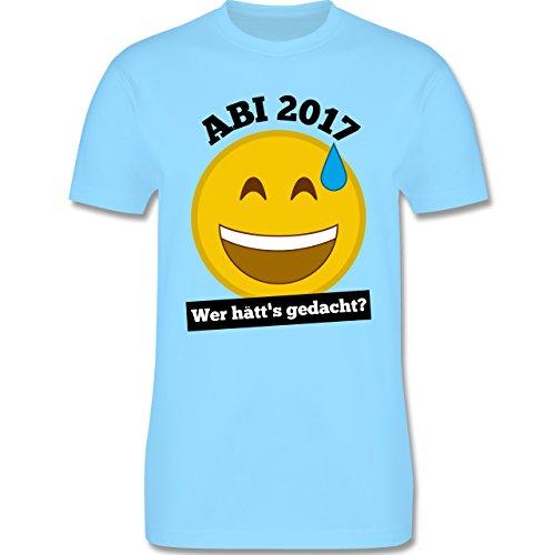 Abi & Abschluss - Abi 2017 - Wer hätt's gedacht? - Herren Premium T-Shirt Hellblau