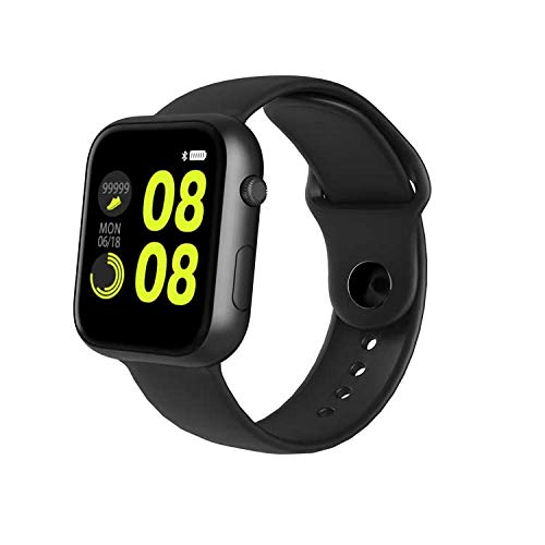 OPTA SB-167 Bluetooth Fitness Watch with Heart Rate + Sleep Monitor Compatible with Android/iOS Smart Phones for UnisexMedium (Black)