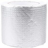 iplusmile Cinta de Goma de Butilo: Sellador de Aluminio Resistente Al Agua para Grietas Del Techo Canaletas Agujeros Reparación de Fugas (5 Cm X 3 M)