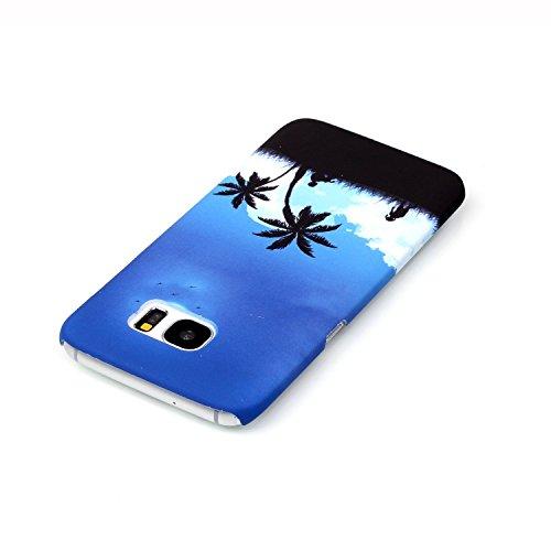Samsung Galaxy S7 Custodia, Samsung Galaxy S7 Cover, Bonice Ultra Sottile PC Hard Back Antiurto Shock-Absorption Durable Case Elefante + 1x Protezione Dello Schermo Screen Protector Pattern 02