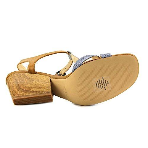 Nine West Geralda cuir Wedge Sandal Blue Multi Leather