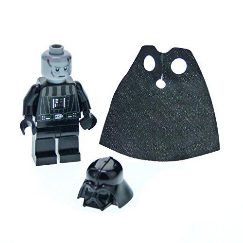 1 x Lego System Figur Star Wars Darth Vader schwarz bedruckt Death Star Torso Helm Umhang mit Pupillen weiss für Set 10212 7965 10221 sw277