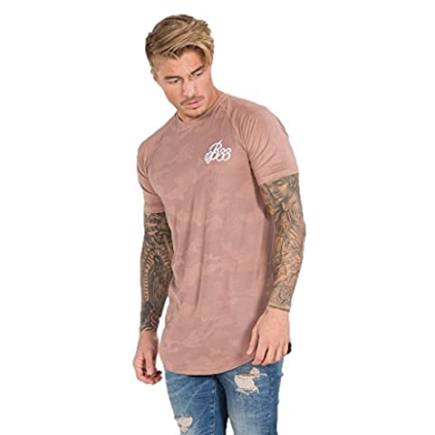 Bee Inspired T-Shirt Homme, Dusty Pink Camo - Ridge Suede Tee