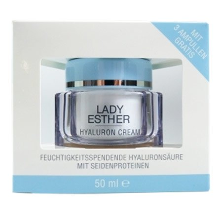 Lady Esther Cosmetic Hyaluron Cream inkl. 3 Hyaluron Ampullen Lady Make-up