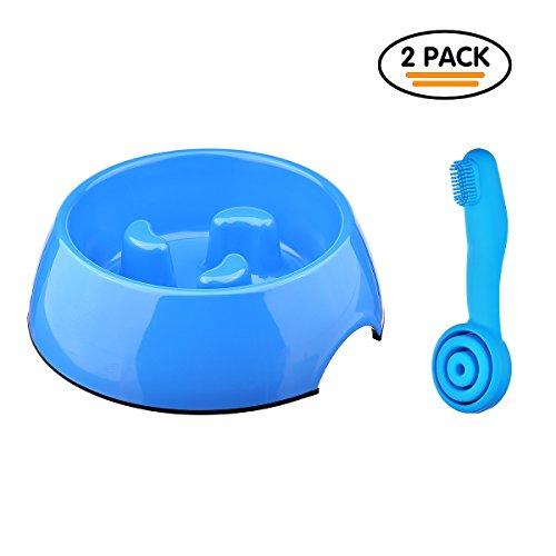 Preisvergleich Produktbild Langsam Fressnäpfe,  Anti Schling Hundenäpfe,  Katzeschüsseln für Magenschutz ,  kriegt gratis eine Fingerzahnbürste mit (Klein)