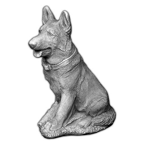 Gartendeko Deutscher Schäferhund Hund Gartenfigur Steinguss frostfest -
