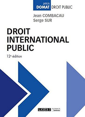 Droit international public, 12ème Ed.