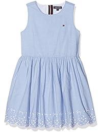 Tommy Hilfiger Charming Embroidery Dress Slvls, Vestido para Niñas