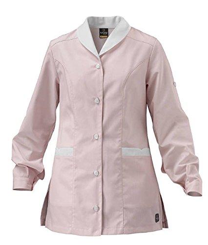 SIGGI - OFFERTA Casacca Martina con due tasche e maniche arrotolabili. In tessuto di cotone 35% poliestere 65% (0739) (XL, ROSA)