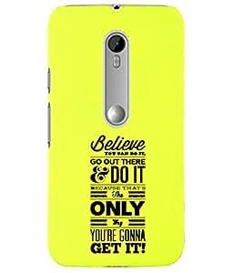 KolorEdge Back Cover For Motorola Moto X Style - Yellow (5867-Ke15166MotoXStyleYellow3D)